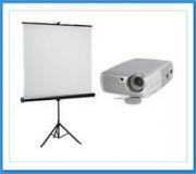 Location vidéo projecteur  - Location vidéo projecteur avec écran sur pied