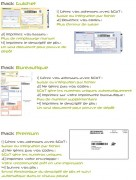 Logiciel d'affranchissement courriers - Impression des liasses bureautique au format A4
