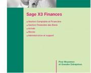 Logiciel de comptabilité Sage X 3 Finance