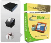 Logiciel Easy Bar caisse enregistreuse - Pack avec : Logiciel - Imprimante ticket de caisse - Tiroir caisse