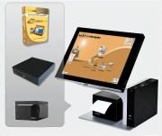 Logiciel gestion livraisons bar - Pack avec : Logiciel - Terminal PV - Imprimante ticket de caisse - Tiroir caisse