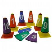 Lot de 10 cache cône numérotés - Convient pour cône de 23 cm à 30 cm