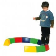 Lot de 10 poutres d'équilibre - Existe en 2 modèles : courbé et droit