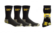 Chaussettes montantes Caterpillar - 75 % coton - 22 % polyester - 3 % élasthanne - Tailles : 41/45 ou 46/50