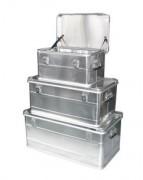 Lot de coffre aluminium à poignées latérales