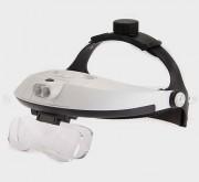 Loupe frontale LED détachable - Dispose de 5 lentilles de grossissements interchangeables