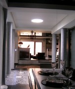 Lumière naturelle pour salon - Conduit de lumière  pour toitures inclinées avec soffite - Diamètre 76cm