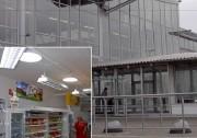 Lumière naturelle pour surface commerciale - Conduit de lumière pour toitures inclinées avec soffite - Diamètre 76cm