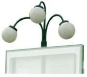 Luminaire 3 boules pour porte menu - Pour modèle simple ou double face