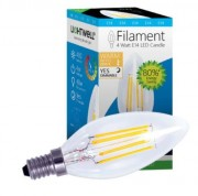 Luminaire Led à filament - Consommation en watt : 4W - Diffusion Lumière : 360°
