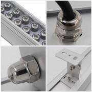 Luminaire LED aluminium et verre trempé - Efficacité du luminaire : 100 lm/W