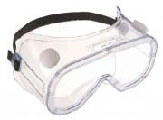 Lunette de sécurité masque - Monture PVC incolore - Bandeau élastique
