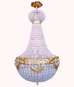 Lustre cristal - Hauteur : 90 cm - Largeur 60 cm
