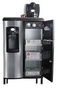 Machine 2 en 1 eau et café - Meuble intégrant fontaine réseau et machine à café