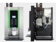 Machine à café à grain professionnelle - Nombre de bacs (produits solubles): 1 (3,8 ltr.) ou 2 (1,6 ltr.)