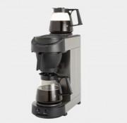 Machine a café professionnelle à 2 verseuses - Puissance : 2250 W - Capacité : 18L, 144 tasses - Dim : (HxPxL) 625x205x380 mm