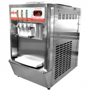 Machine à glace italienne de comptoir 2 parfums - Machine à glace soft, sundae, frozen yogourt