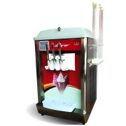 Machine à glace italienne de comptoir à 2 compresseurs - Machine a glace soft, sundae, frozen yogourt
