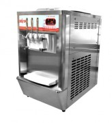 Machine à glace italienne professionnelle production 200 à 300 glaces/heure - Contenance des cuves : 2 x 7 litres
