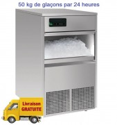 Machine à glaçons 50 kg professionnelle - Capacité bac : 11kg