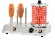 Machine à hot dog éléctrique 4 plots - Acier Inoxydable- 4 plots chauffants- Puissance :  1010 W