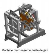 Machine à marquer par roulement - Marquage de bouteilles de gaz, pièce de monnaie, tige d'aluminium, disque de frein
