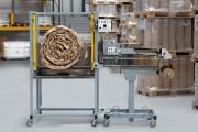 Machine d'emballage pour papier froissé - Production d'escargot de papier