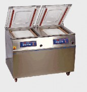 Machine d'emballage sous vide double chambre - Dimensions de la barre de soudure (mm) : 450