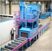 Machine de grenaillage automatique à turbine - Préparation de la surface avant peinture