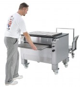 Machine de lavage plaques boulangerie - Pour plaques creuses en acier ou aluminium