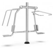 Machine de musculation outdoor Push Pull - Structure en acier inoxydable, caoutchouc
