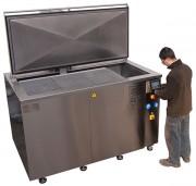 Machine industrielle nettoyage ultrasons - Contenance réservoir principal : 1100 ou 2050 litres