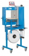 Machine mise sous bande à fermeture latérale - Cadence jusqu'à 35 banderolages à la minute (en fonction de l'arc).