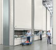 Stockeur vertical Lift - L'idéal pour le rangement sur plateaux de produits aux dimensions variées. Le système règle la position des conteneurs pour réduire les intervalles vides et densifier au maximum le stock