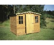 Maisonnete de jardin en bois - Dimensions chalet (L x P) : 2.00 x 2.00 m.