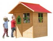 Maisonnette bois pour enfants 2 à 8 ans - Dimensions hors tout (L x l x H) cm : 132 x 148 x 158