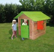 Maisonnette pour enfants en bois - Dimensions hors tout (L x l x H) cm : 116 x 138 x 132