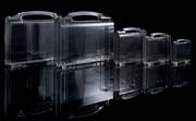 Malette de présentation transparente plastique - Matière : ABS - Dimensions :270 x 185 x 76 mm