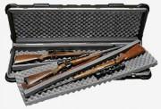 Mallette pour 4 carabines à lunettes - Dimensions intérieures (L x l x H) : 1270 x 370 x 150 mm