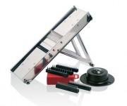 Mandoline de cuisine professionnelle en inox - Lames interchangeables : 1 - 2 - 4 - 7 - 10 mm