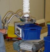 Manipulateur à ventouse avec poignée guidon articulée pour charges en hauteur - PG