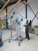Manipulateur de panneaux et vitres - Capacité 50KG pour chaque ventouse