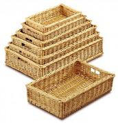 Manne de pâtissier en osier - Dimensions (L x P x H) cm : De 32 x 23 x 10 à 74 x 48 x 15