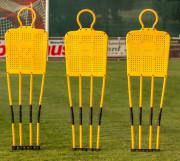 Mannequins d'entrainement montables - Matière : PVC flexible et pics en acier  - Hauteur : 1,80 m - Largeur : 0,60 m