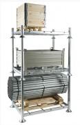 Manurack de stockage simple - Tubes acier galvanisé à chaud - 1500 Kg / niveau