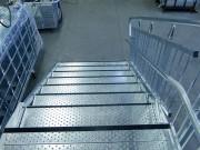 Marche d'escalier industriel - Largeurs de passage : de 640 à 1405 mm