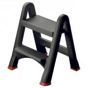 Marche-pied pliable - Capacité : 150 kg - Dim : 48,6 x 17,2 x 63 (h) cm - Matière : Polypropylène