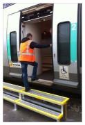 Marche pied pour quai de maintenance ferroviaire
