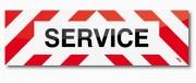 Marquage adhésif pour véhicule - Visibilité : jusqu'à 100 mètres - Modèles : Service - Travaux  - Arrêts fréquents