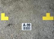 Marquage au sol étiquettes imprimées - Signalisation au sol